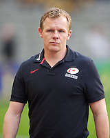 20121020 Copyright onEdition 2012©.Free for editorial use image, please credit: onEdition..Mark McCall, Saracens Director of Rugby, before the Heineken Cup Round 2 match between Saracens and Racing Metro 92 at the King Baudouin Stadium, Brussels on Saturday 20th October 2012 (Photo by Rob Munro)..For press contacts contact: Sam Feasey at brandRapport on M: +44 (0)7717 757114 E: SFeasey@brand-rapport.com..If you require a higher resolution image or you have any other onEdition photographic enquiries, please contact onEdition on 0845 900 2 900 or email info@onEdition.com.This image is copyright the onEdition 2012©..This image has been supplied by onEdition and must be credited onEdition. The author is asserting his full Moral rights in relation to the publication of this image. Rights for onward transmission of any image or file is not granted or implied. Changing or deleting Copyright information is illegal as specified in the Copyright, Design and Patents Act 1988. If you are in any way unsure of your right to publish this image please contact onEdition on 0845 900 2 900 or email info@onEdition.com