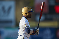 Noah Jones (23) \oqc\ steps up to the plate during the game against the Barton Bulldogs at Intimidators Stadium on March 19, 2019 in Kannapolis, North Carolina. The Royals defeated the Bulldogs 6-5. (Brian Westerholt/Four Seam Images)