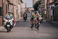 Preben Van Hecke (BEL/Sport Vlaanderen Baloise) leading the breakaway<br /> <br /> 27th Challenge Ciclista Mallorca 2018<br /> Trofeo Campos-Porreres-Felanitx-Ses Salines: 176km