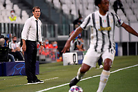 Rudi Garcia, coach of Lyon, reacts during the Champions League round of 16 second leg football match between Juventus FC and Lyon at Juventus stadium in Turin (Italy), August 7th, 2020. <br /> Photo Federico Tardito / Insidefoto
