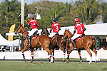 WELLINGTON, FL - FEBRUARY 19: Team Coca Cola returns to the field.  Scenes from the Ylvisaker Cup Final as Coca Cola 9 defeats Tonkawa 8 in overtime with a Golden Goal on a Penalty 2 by Julio Arellano, in the William Ylvisaker Cup Final, at the International Polo Club, Palm Beach on February 19, 2017 in Wellington, Florida. (Photo by Liz Lamont/Eclipse Sportswire/Getty Images)