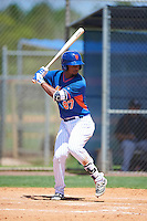 GCL Mets designated hitter Luis Carpio (97) at bat during a game against the GCL Marlins on August 12, 2016 at St. Lucie Sports Complex in St. Lucie, Florida.  GCL Marlins defeated GCL Mets 8-1.  (Mike Janes/Four Seam Images)
