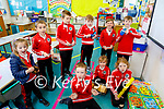 Derryquay NS students playing music in the school
