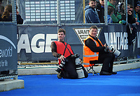 Photographers Simon Watts and Ned Dawson during the Sentinel Homes Trans Tasman Series hockey match between the New Zealand Black Sticks Women and the Australian Hockeyroos at Massey University Hockey Turf in Palmerston North, New Zealand on Sunday, 30 May 2021. Photo: Dave Lintott / lintottphoto.co.nz