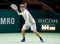 Februari 11, 2015, Netherlands, Rotterdam, Ahoy, ABN AMRO World Tennis Tournament, Dominic Thiem (AUT)<br /> Photo: Tennisimages/Henk Koster