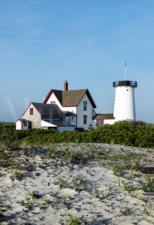 Stage Harbor Lighthouse, Chatham, Cape Cod, Massachusetts, USA.