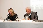 "The writter of the book, Soledad Fox Maura and the politic Felipe Gonzalez during the presentatoin of the book ""Ida y Vuelta. La vida de Jose Semprum"" of Soledad Fox Maura in Madrid. May 25. 2016. (ALTERPHOTOS/Borja B.Hojas)"