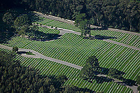 aerial photograph of the National Cemetery, Presidio, San Francisco, California