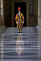 Swiss Guard.Pope Francis  Cyprus' President Nicos Anastasiades upon his arrival for a private audience at the Vatican on November 18, 2019.