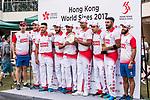 Players  of Hong Kong receive the Plate award at the Hong Kong Cricket World Sixes 2017 Award Presentation at Kowloon Cricket Club on 29 October 2017, in Hong Kong, China. Photo by Yu Chun Christopher Wong / Power Sport Images