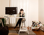 April 7, 2017. Durham, North Carolina.<br /> <br /> Lis Tyroler, one of the owners of Nido, and her son Desmond Romine Tyroler.<br /> <br /> Nido is a co-working space which also offers a Montessori preschool on site. Catering to working parents with morning and afternoon preschool shifts, Nido has thrived and is actively looking for a larger space. <br /> <br /> <br /> <br /> Jeremy M. Lange for The New York TImes