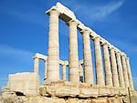 The Temple of Poseidon at Cape Sounion near Athens, Greece. c 440 BC.
