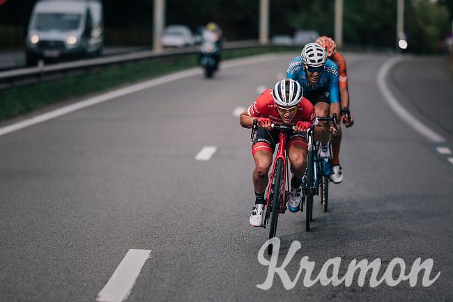 Toms Skujins (LAT/Trek Segafredo)<br /> <br /> 52nd GP Jef Scherens - Rondom Leuven 2018 (1.HC)<br /> 1 Day Race: Leuven to Leuven (186km/BEL)