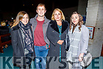 Roisin and Fergal Roche, Caroline O'Hallaron and Gillian Lewis attending the Carols for Chernobyl an evening of seasonal Music and Song in St Brendans Church on Sunday night.
