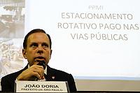 20.03.2018 - Doria faz coletiva de imprensa sobre Zona Azul em SP