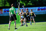 BERLIN, GERMANY - JUNE 22: Semifinal between Team Germany (black) vs LCC Radotin (white) during the Berlin Open Lacrosse Tournament 2013 at Stadion Lichterfelde on June 22, 2013 in Berlin, Germany. Final score 9-8. (Photo by Dirk Markgraf/www.265-images.com) *** Local caption *** #45 Inga Hupka of Germany