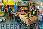 Junior Locke, Brian McCannon and Kieran Fry at the Foodshare Kerry depot in Tralee.
