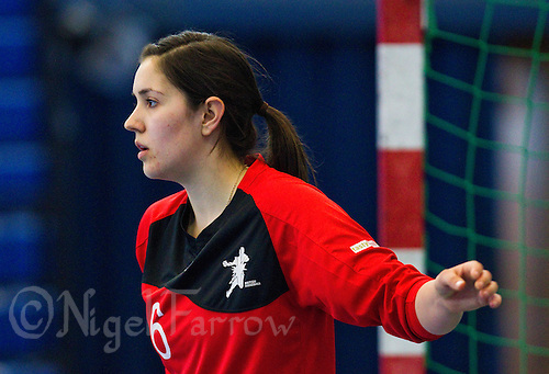 06 APR 2012 - LONDON, GBR - Great Britain goalkeeper Laura Innes (GBR) watches play during a team practice match at the National Sports Centre in Crystal Palace, Great Britain .(PHOTO (C) 2012 NIGEL FARROW)
