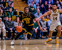 23 January 2019: UMBC Retriever Forward Arkel Lamar, a Junior from Bridgeport, CT, in second half action against the University of Vermont Catamounts at Patrick Gymnasium in Burlington, Vermont. The Retrievers handed the Catamounts their first America East loss of the season 74-61. Mandatory Credit: Ed Wolfstein Photo *** RAW (NEF) Image File Available ***