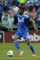 Mikel (12) Chelsea in action..Manchester City defeated Chelsea 4-3 in an international friendly at Busch Stadium, St Louis, Missouri.