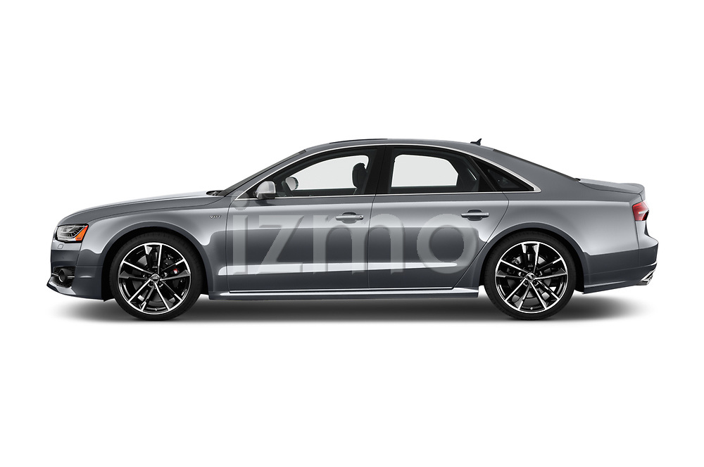 Car driver side profile view of a 2018 Audi S8 4.0-TFSI-quattro-Tiptronic-Plus  4 Door Sedan