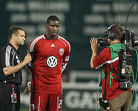 Bill Hamid #28 of D.C.United after an MLS match against the Kansas City Wizards at RFK Stadium on May 5 2010, in Washington DC. United won 2-1