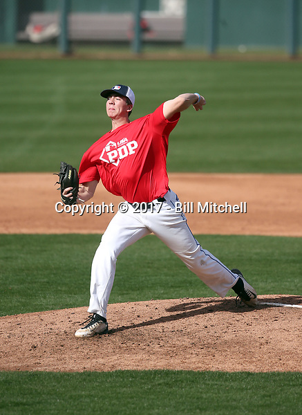 Matthew Liberatore plays in the MLB / USA Baseball Prospect Development Pipeline game at Sloan Park on February 5, 2017 in Mesa, Arizona (Bill Mitchell)