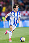 Alvaro Odriozola Arzallus of Real Sociedad in action during their La Liga match between Atletico de Madrid vs Real Sociedad at the Vicente Calderon Stadium on 04 April 2017 in Madrid, Spain. Photo by Diego Gonzalez Souto / Power Sport Images
