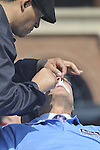 RA Dickey of the Nw York Mets wins his 20th game of the 2012 season and Keth Hernandez shaves his mustache
