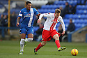 Luke Freeman of Stevenage escapes from Nathaniel Mendez-Laing of Peterborough<br />  - Peterborough United v Stevenage - Sky Bet League One - London Road, Peterborough - 23rd November 2013. <br /> © Kevin Coleman 2013