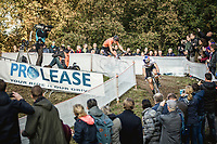 World Champion Wout Van Aert (BEL) takes the lead in the first round. <br /> <br /> UEC CYCLO-CROSS EUROPEAN CHAMPIONSHIPS 2018<br /> 's-Hertogenbosch – The Netherlands<br /> Men Elite Race