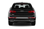 Straight rear view of a 2018 Audi SQ5 Premium Plus 5 Door SUV stock images