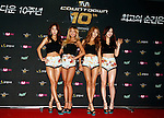 """SISTAR, Jul 24, 2014 : South Korean girl group SISTAR, attend a photo call before the 10th anniversary live special of weekly music chart show, """"M! Countdown"""" of Mnet in Goyang, north of Seoul, South Korea.  (Photo by Lee Jae-Won/AFLO) (SOUTH KOREA)"""