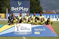 MEDELLÍN-COLOMBIA,16-11-2020:Deportivo Independiente Medellín y Atlético Bucaramanga  en partido por la fecha 5 de la Liga femenina BetPlay DIMAYOR I 2020 jugado en el estadio Atanasio Girardot de la ciudad de Medellin. /Deportivo Independiente Medellin and Atletico Bucaramanga in match for the date 5 BetPlay DIMAYOR women´s  League I 2020 played at Atanasio Girardot stadium in Medellin city. Photo: VizzorImage/ Juan Augusto Cardona / Contribuidor
