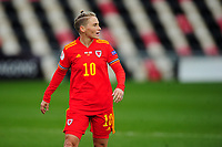 Jessica Fishlock of Wales Women's during the UEFA Women's EURO 2022 Qualifier match between Wales Women and Faroe Islands Women at Rodney Parade in Newport, Wales, UK. Thursday 22 October 2020
