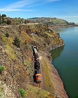 BNSF train in gorge