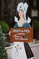 Europe/France/Bretagne/35/Ille et Vilaine/ Dinard: Porte-Menu d'un Hôtel-Restaurant