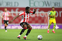 Josh DaSilva of Brentford during Brentford vs West Bromwich Albion, Sky Bet EFL Championship Football at Griffin Park on 26th June 2020