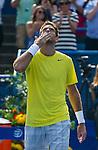 Juan Martin del Potro (ARG) defeats John Isner (USA) 3-6, 6-1, 6-2 winning his third title at the Citi Open in Washington, DC on August 4, 2013.