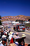 The Fourth of July Parade in Cayucos Beach, California turns the tiny town into the biggest city on the Central Coast for one day every year.  The local fire truck ends the parade.