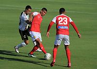 BARRANQUILLA - COLOMBIA, 27-03-2021: Barranquilla F. C. y Llaneros F. C. durante partido de la fecha 13 por el Torneo BetPlay DIMAYOR 2021 en el estadio Romelio Martinez en la ciudad de Barranquilla. / Barranquilla F. C. and Llaneros F. C. during a match of the 13th for the BetPlay DIMAYOR 2021 Tournament at the Romelio Martinez stadium in Barranquilla city. Photo: VizzorImage / Jesus Rico / Cont.