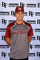 Kai Saterstrom (2) of High Tech High Chula Vista in Chula Vista, California during the Baseball Factory All-America Pre-Season Tournament, powered by Under Armour, on January 12, 2018 at Sloan Park Complex in Mesa, Arizona.  (Mike Janes/Four Seam Images)