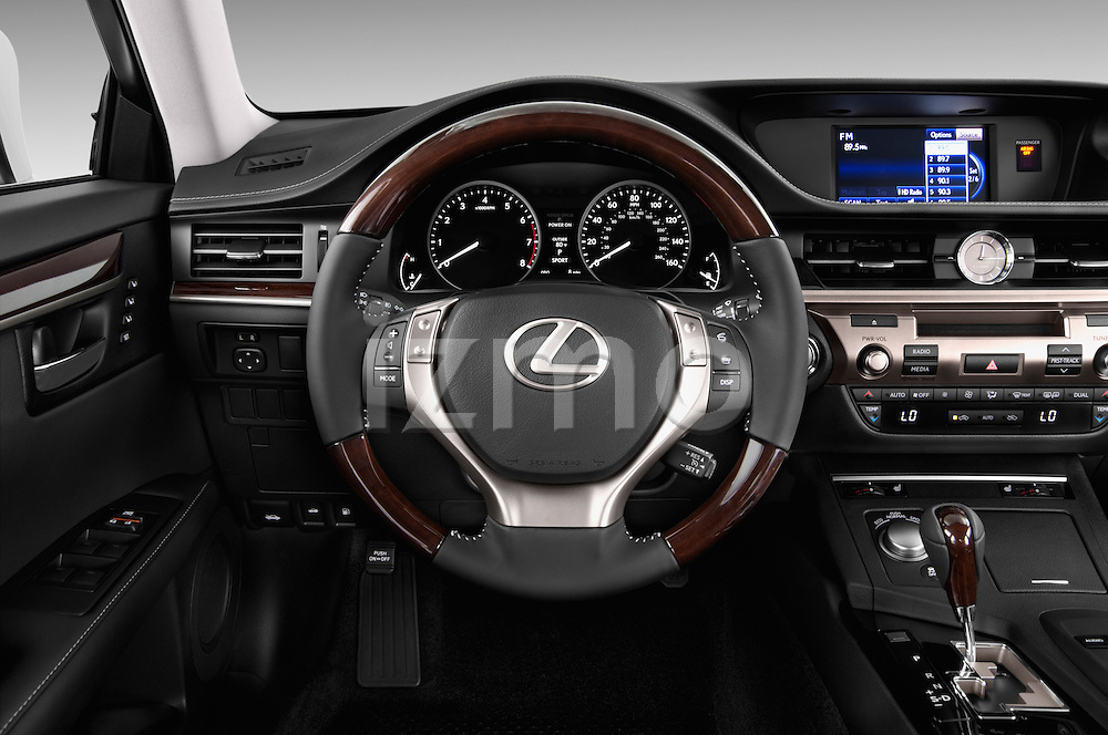 Steering wheel view of a 2013 Lexus ES 350