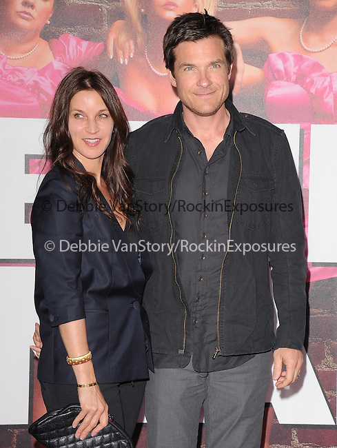 Jason Bateman and wife at The Universal Pictures L.A. Premiere of Bridesmaids at Mann Village Theatre in West Hollywood, California on April 28,2011                                                                               © 2011 Hollywood Press Agency