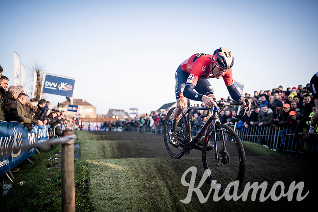 World Tour road racer Heinrich Haussler (AUS/Bahrain-Merida) testing out some cyclocross races as part of his winter training<br /> <br /> Azencross Loenhout 2019 (BEL)<br />  <br /> ©kramon
