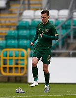 15th November 2020; Tallaght Stadium, Dublin, Leinster, Ireland; 2021 Under 21 European Championships Qualifier, Ireland Under 21 versus Iceland U21; Republic of Ireland defender Lee O'Connor loses a boot during a challenge