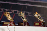 All Golden Boots won by Cristiano Ronaldo at Real Madrid CFduring the tribute to Cristiano Ronaldo by Real Madrid CF on the occasion of his new record by being the top scorer in the club's history at Santiago Bernabeu Stadium in Madrid, October 02, 2015.<br /> (ALTERPHOTOS/BorjaB.Hojas)