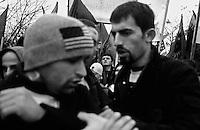 Pro-independence demonstration in Pristina, Kosovo.