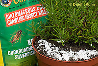 HS69-548z  Diatomaceous Earth for control of pest insects on Rosemary