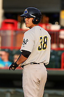 Trenton Thunder Catcher Jose Gil (38) during a game vs. the Erie Seawolves at Jerry Uht Park in Erie, Pennsylvania;  June 23, 2010.   Trenton defeated Erie 12-7  Photo By Mike Janes/Four Seam Images